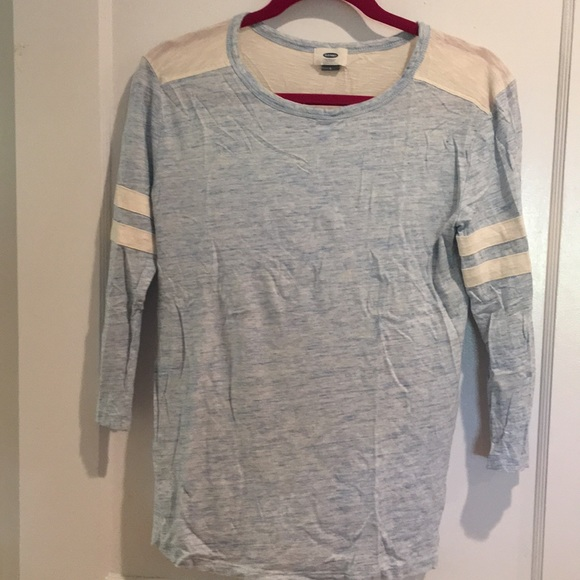 Old Navy Tops - Old Navy - Sky blue heather long sleeve jersey Tee
